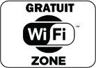 Gratuit. Wifi zone