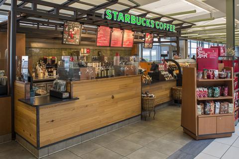 front of Starbucks
