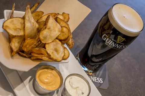 plate of Blarney Chips and a pint of Guinness