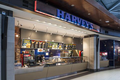 front of Harvey's