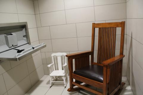 rocking chair, change table