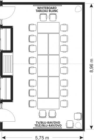 layout of Lindbergh Boardroom