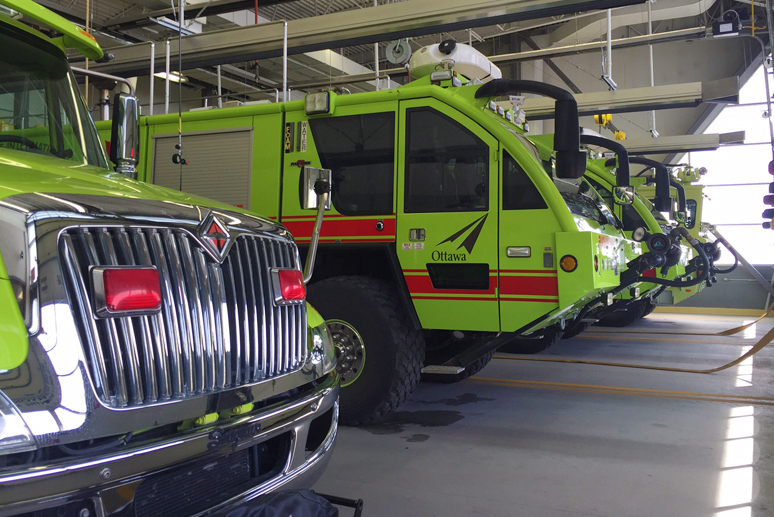 Aircraft rescue and firefighting vehicles